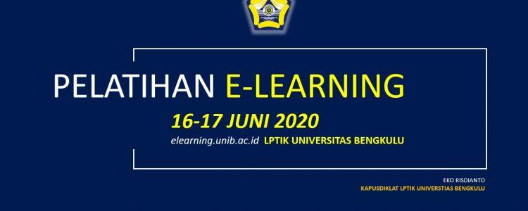 Kegiatan Pelatihan Elearning LPTIK UNIB 16 Juni 2020 Secara Daring Via Zoom